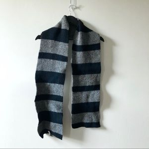 Gap Black and Gray Wool Scarf